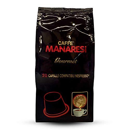 Manaresi - Kaffee Italienische Nespresso kompatible Kapseln Gourmet 20 zählen