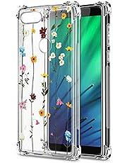 Oihxse Cristal Compatible con Huawei P30 Lite/Nova 4E Funda Transparente TPU Silicona Estuche Airbag Esquinas Anti-Choque Anti Rasguños Diseño Rosa Flower Caso (Flores A3)