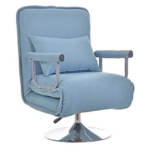 DJLOOKK Silla de Oficina Silla ergonómica para computadora de Escritorio, sillas de Juego Plegables con/Almohada, Respaldo y Asiento Ajustables en Altura, Suave y cómodo, sofá Perezoso,Azul