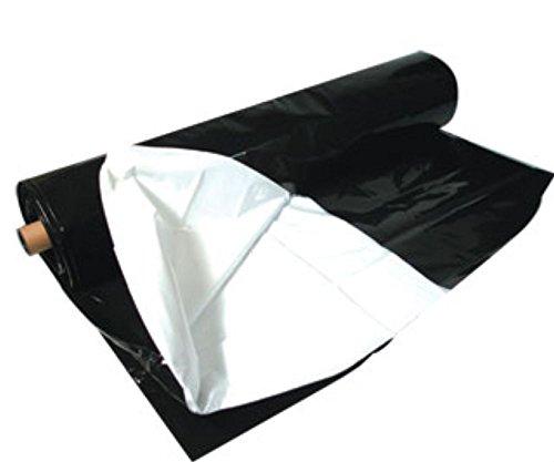 Hydrofarm ABWP25 Black & White, 10' x 25', 5.5 mil Poly Film, 10 x 25'/5.5 mm T, Black and White