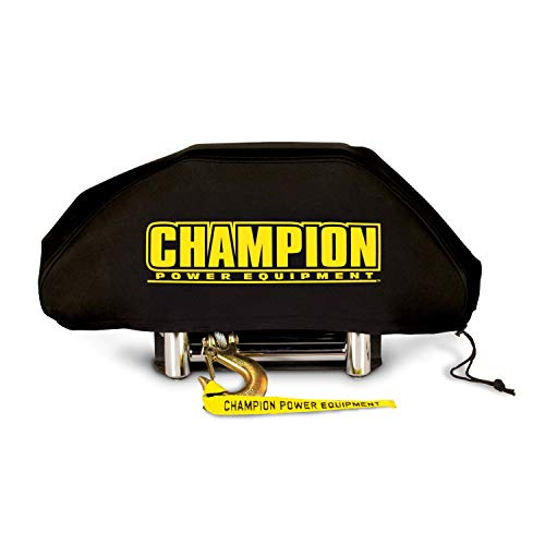 Champion Power Equipment - 18035 Weather-Resistant Neoprene Storage Cover for Winches 8,000-10,000 lb
