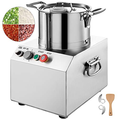 VBENLEM 110V Commercial Food Processor 4L Capacity 550W Electric Food Cutter 1400RPM Stainless Steel Food Processor Perfect for Vegetables Fruits Grains Peanut Ginger Garlic
