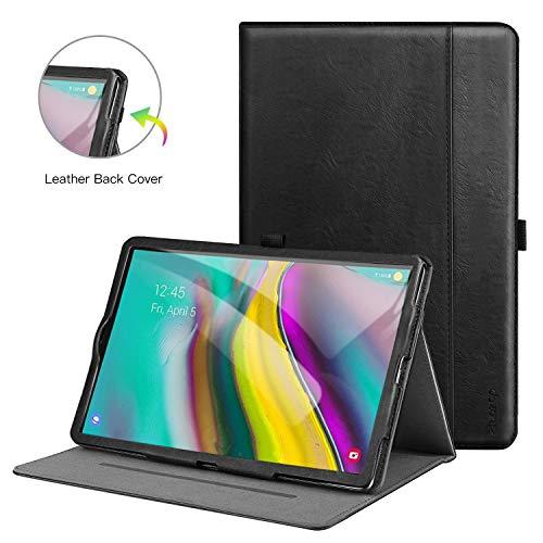 Ztotop Hülle für Samsung Galaxy Tab S5e 10.5,für Modell T720/T725,Premium Leder Geschäftshülle mit Ständer,Kartensteckplatz,Auto Schlaf/Aufwach Funktion,Mehrfachwinkel,Schwarz