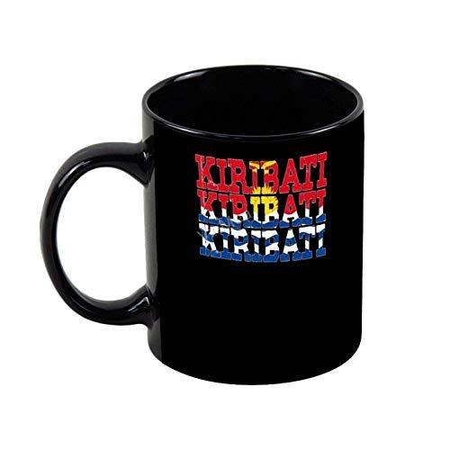 Keramik Kaffeetasse Kiribati I Kiribati Flagge Neuheit Kaffee Teetasse Weihnachten Urlaub Geschenk Geburtstagsgeschenke, 11oz