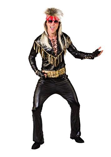 Bristol Novelty AF062 Rocker Kostüm, Schwarz/Gold