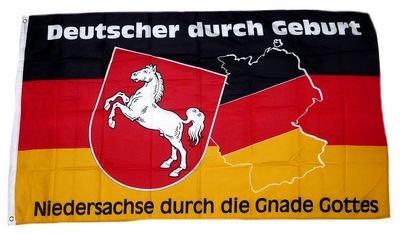 Flagge Fahne Niedersachse durch die Gnade Gottes 90 x 150 cm FLAGGENMAE®