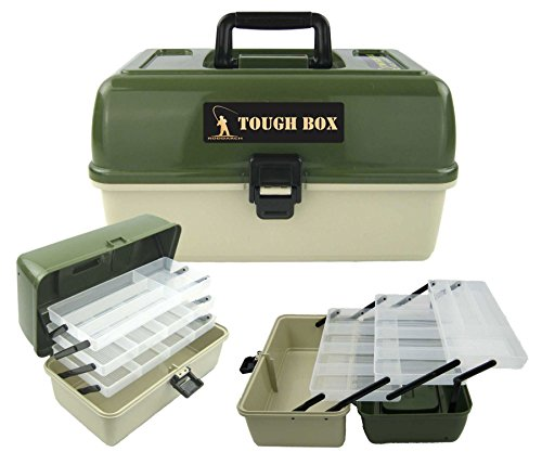 Roddarch 3 Tray Cantilever Fishing Tackle Tough Box