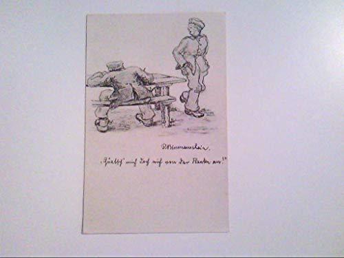 Zeichnung. Soldat. R. Blumenschein. AK.