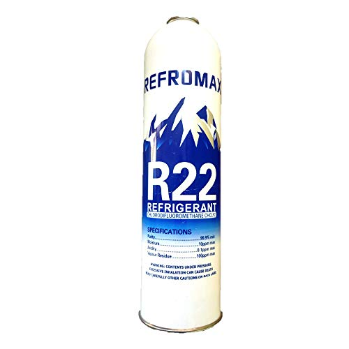 R22 Gas Can Refrigerant Net Weight 1 kg for Air Conditioner/Gas Weight 800 Gram by Jagdish Refrigeration