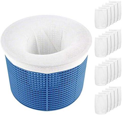 Aiglam Pool Skimmer Socks 20 Pack Pool Filter Basket Saver Socks Reusable Ultra Fine Mesh Sock product image