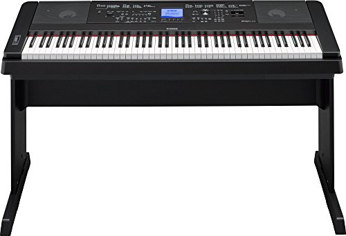 YAMAHA DGX660B 88-Key Weighted Digital Piano With Furniture Stand, Black