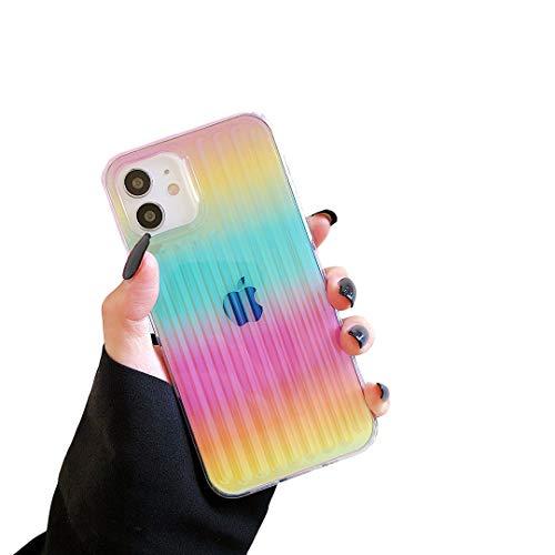 Cocomii Holographic Rainbow Clear iPhone 12 Mini Custodia, Sottile Lucido Morbido TPU Silicone Riflettenti Gradiente Case Bumper Cover Paraurti Compatible with Apple iPhone 12 Mini 5.4' (Rainbow)