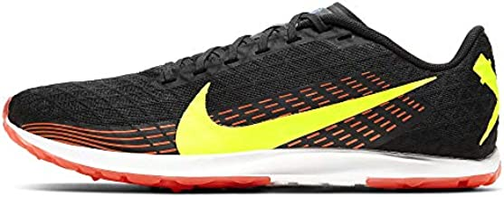 Nike Zoom Rival Waffle Racing Shoe Track Cross Country (Black/Volt/Bright Crimson, Numeric_9)