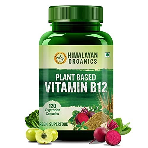 Himalayan Organics Plant Based Vitamin B12-120 Veg Capsules