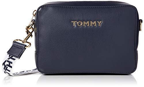 Tommy Hilfiger Damen Iconic Tommy Camera Bag Umhängetasche, Blau (Sky Captain), 1x1x1 cm