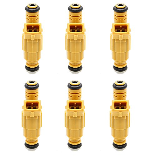 6PCS Flow Matched Fuel Injectors Nozzles For Jeep Grand Cherokee Wrangler Comanche 4.0L Ford Mercury Lincoln 4.6L 5.0L 6.8L # 0280155710 0280155700