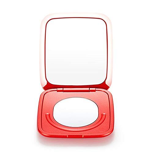 Miroir de maquillage Vanity avec lumières LED Pliez Miroir Lighted Vanity avec des lumières LED, écran tactile et 1X / 5X miroir grossissant, mode d'alimentation miroir de maquillage, cosmétique Voyag