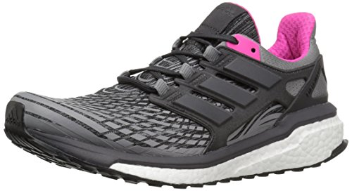 adidas Women's Energy Boost w Running Shoe, Grey Three/Utility Black/Grey Four, 5.5 Medium US