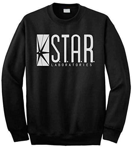 """Buzz Shirts BSW206 Sweat-shirt pour homme Inscription """"Star Laboratories"""" -  Noir -  S"""