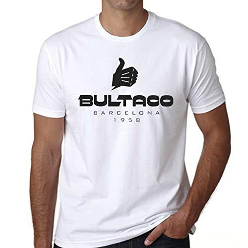 JONES DIY Bultaco Motorcycles Barcelona 1958 Logo White T-Shirt Unisex,M
