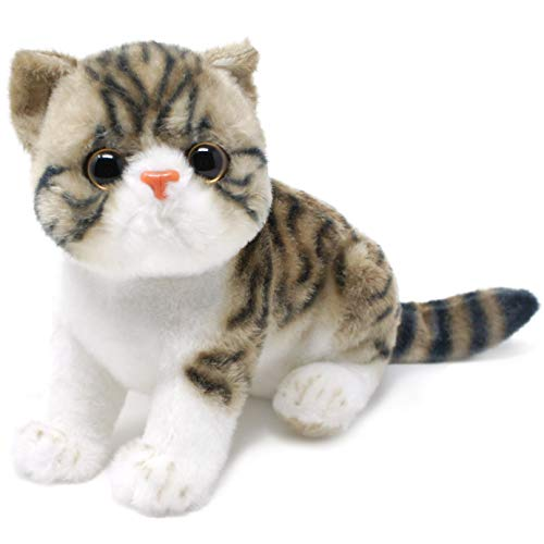 Esther The Exotic Shorthair Tabby Cat - 9.5 Inch (Not Including Tail Measurement) Stuffed Animal Plush Kitten - by Tiger Tale Toys