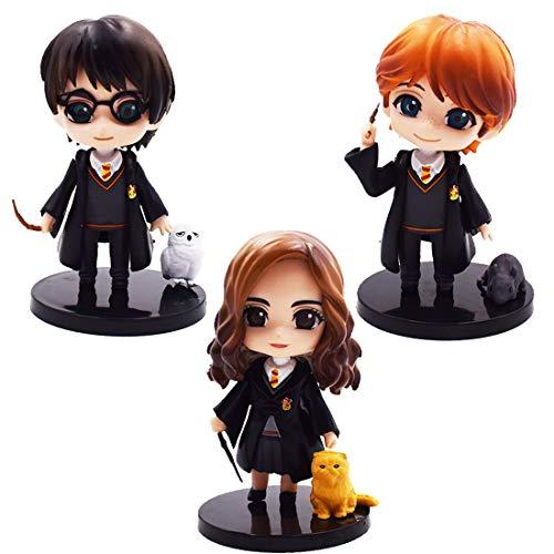 Cake Topper - YUESEN 3pcs Harry Potter Mini Figuras Niños Mini Juguetes Baby Shower Fiesta de cumpleaños Pastel Decoración Suministros