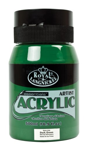 Royal & Langnickel Essentials Peinture Acrylique Vert fonc 500 ml