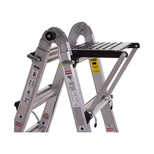 ORIENTOOLS Ladder Work Platform, Ladder Accessory with 375-Pound Rated