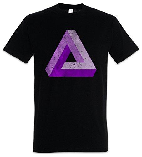 Urban Backwoods Penrose Logo Sign V Herren T-Shirt Schwarz Größe 2XL
