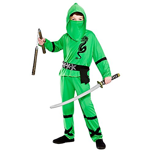 Power Ninja - Green Kids Fancy Dress Costume
