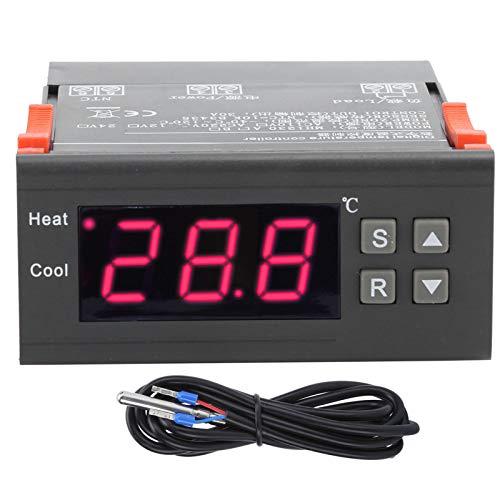 DAUERHAFT Termostato Digital con Controlador de Temperatura Resistente al Desgaste Parámetros de Control de Temperatura establecidos, para calefacción por Suelo Radiante AC, para Grandes Granjas de