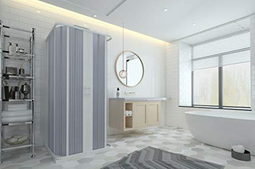 Cabine de douche 3 côtés en PVC à soufflet 60 x 60 x 60 cm, réductible sur mesure.
