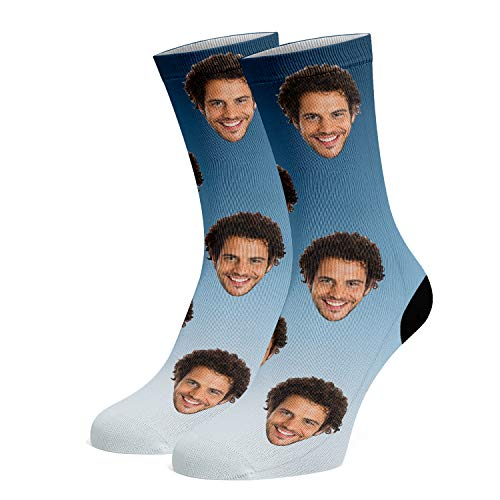 Custom Face Socks, Funny Socks with Faces for Men Women Cat Dog Lovers, Personalized Gifts
