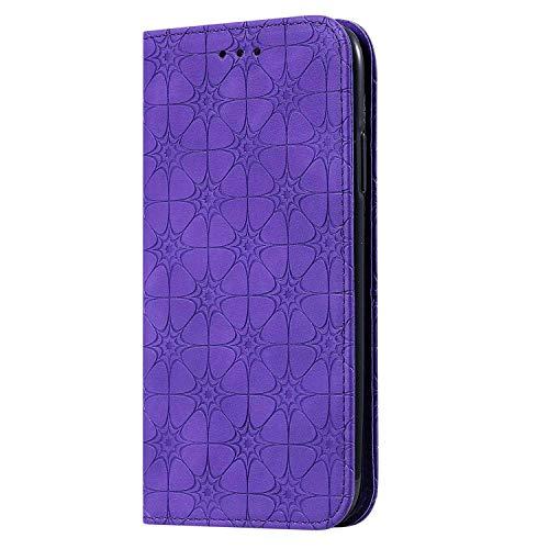 Bear Village Coque iPhone 11, Portefeuille Étui en Cuir Protection avec Porte Cartes et Fonction de Support, Magnétique Coque pour iPhone 11, Violet
