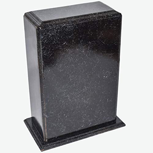 Hind Handicrafts Urne funéraire en bois faite à la main pour les cendres humaines, grande taille, boîte en bois, urne funéraire pour les cendres gravées (27,9 x 17,8 x 8,9 cm – 68 kg, marbre noir)