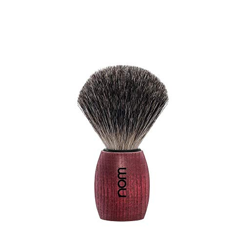 Nom ole81ba Blaireau « OLE », pur noir (pure badger), monture frêne teinté rouge.