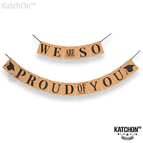 We are So Proud of You Banner - Kraft Paper Banner | We Are So Proud Of You Graduation Banner | Graduation Decorations 2020 | Army Decorations For Party | Graduation Banner Decorations Party Supplies