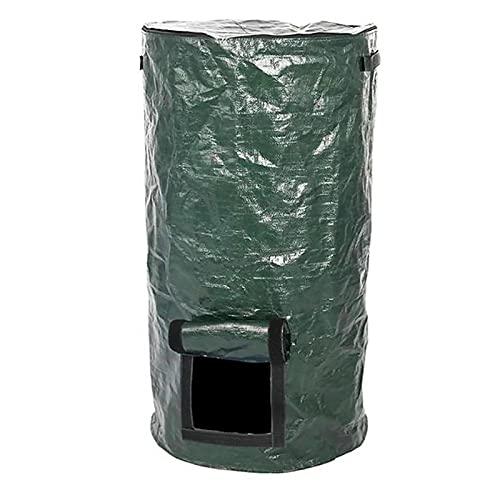 DriSubt Bolsa de compostaje ecológica, hecha en casa, bolsa de compost, desechos de cocina, cubo de basura de jardín (35 x 60 cm)