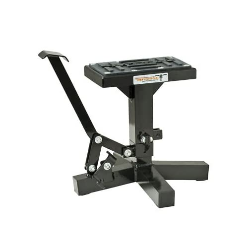 Black//One Size BikeMaster Easy Lift /& Lower Off-Road Motorcycle Jack Stand