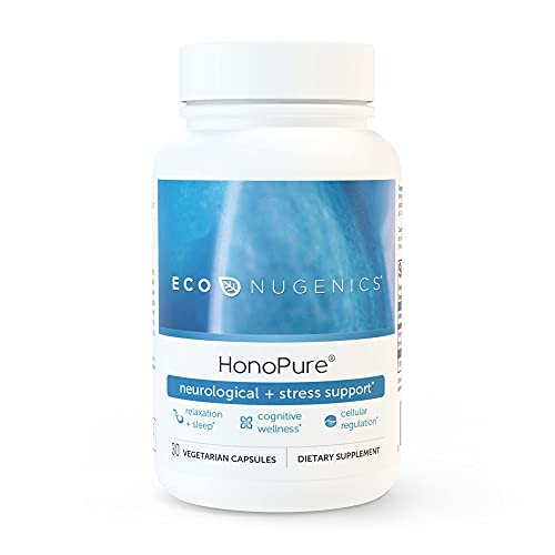 EcoNugenics HonoPure Magnolia Bark Extract - 98% Pure Honokiol for Cellular Health, Antioxidant & Nootropic Cognitive Support, Promotes Healthy Mood & Restful Sleep, Anxiety Relief (30 Capsules)
