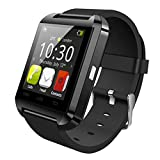 Gazechimp Reloj Inteligente para teléfono Android, Reloj con Seguimiento de sueño Paso, Reloj Inteligente para Hombres y Mujeres - Negro