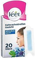 Veet Paski na zimny wosk z technologią Easy-Gelwax – do twarzy – nadają się do skóry wrażliwej – do 28 dni gładkiej...
