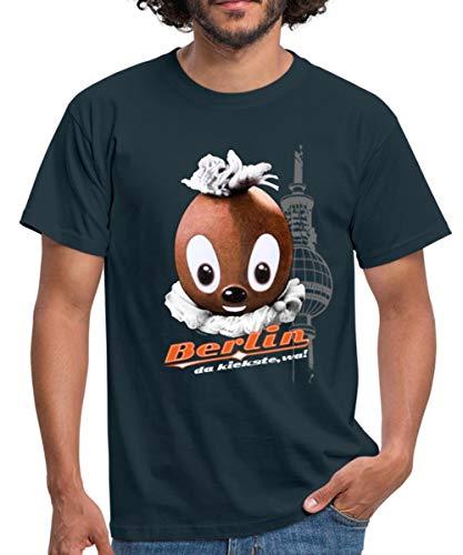 Spreadshirt Pittiplatsch Da Kiekste Wa Berlin Männer T-Shirt, XL, Navy