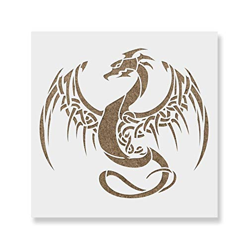 Dragon Stencil - Reusable Stencils for Painting - Create DIY Dragon Crafts and Decor