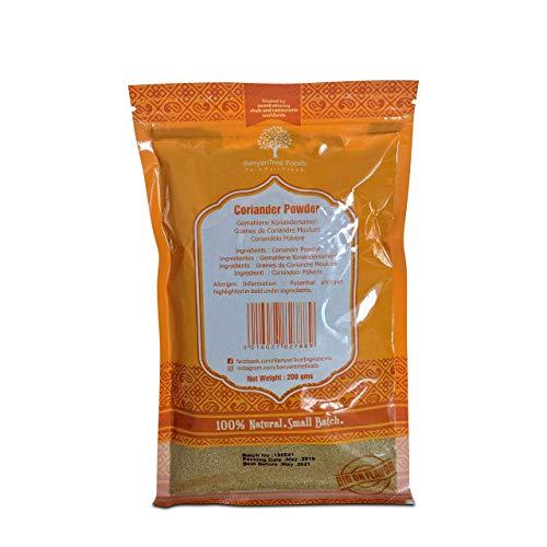 Paquete de resinas grandes en polvo de semillas de cilantro fresco 200g