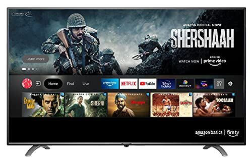 AmazonBasics 139cm (55 inch) 4K Ultra HD Smart LED Fire TV AB55U20PS (Black)