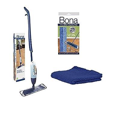 Bona Hardwood Floor Spray Mop, includes 28.75 oz. Cartridge with Bona Microfiber Cleaning/Applicator Pad