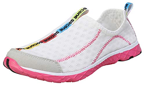 Zhuanglin Women's Quick Drying Aqua Water Shoes Size 6 B(M) US White,White,6 B(M) US