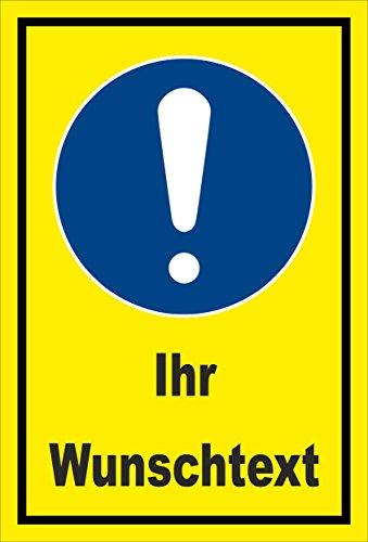 Melis Folienwerkstatt Schild - Gebots-Zeichen - Ihr Wunsch-Text - entspr. DIN ISO 7010 / ASR A1.3 – 45x30cm | stabile 3mm Starke Aluminiumverbundplatte – S00361-002-C +++ in 20 Varianten erhältlich