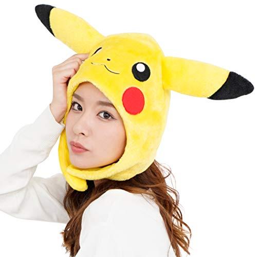 SAZAC Kigurumi Mütze – Pokemon – Pikachu – gemütliche Kostümmmütze – Erwachsenengröße gelb